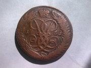 медная монета 1761 г