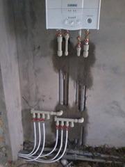 Сантехнические услуги. Автономное отопление,  водопровод,  канализация