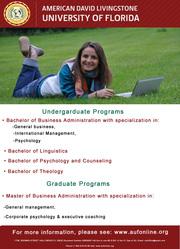 Получите высшее образование в США,  обучаясь в удобное для Вас время!