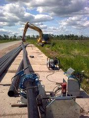 Прокладка строительство трубопроводов для полива Херсон Монтаж труб
