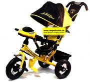 Новинка! Детский трехколесный велосипед Lamborghini L2 с фарой + ключ