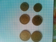 продам в херсоне срочно монеты номиналом 10, 25, 50 1992года