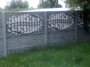 Заборы  бетонные наборные декоративные(еврозаборы) в Херсоне и области